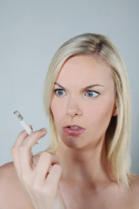 quit smoking mouth infection